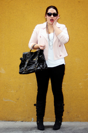 black black Bamboo boots - black black DOTS jeans - light pink light pink Gap ja