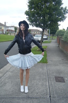 Primark jacket - hollister top - Topshop skirt - Topshop shoes - Primark hat