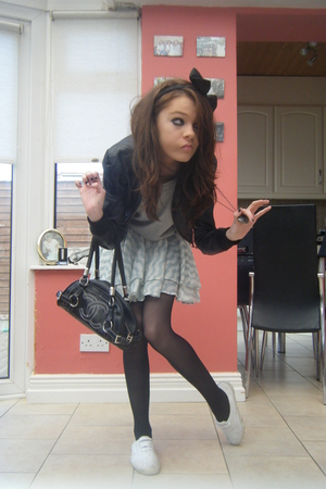 Primark accessories - Primark jacket - Primark top - tophop skirt - Chanel purse