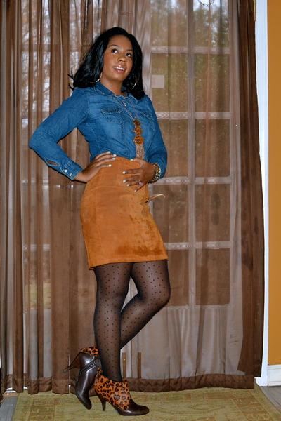 0a9f88858f1 black polka dots kohls stockings - dark brown Nine West boots