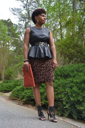 leopard Ralph Lauren dress - clutch House of Adrene bag