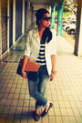Jeans-blazer-bag-forever-21-sunglasses-striped-cotton-on-top