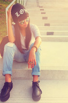 Brands Outlet sunglasses - black creepers Dreamz Couture shoes - cotton on jeans