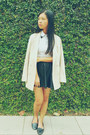 Black-prettylittlethings-skirt-beige-oversized-kitschen-blazer
