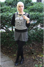 Heather-gray-layered-forever-21-dress-black-elephant-forever-21-sweater
