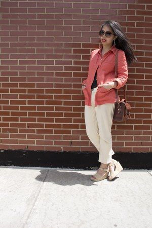 Prada sunglasses - Current Elliot jeans - db Life blazer - Dolce Vita wedges