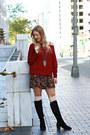 Burgundy-zaful-sweater