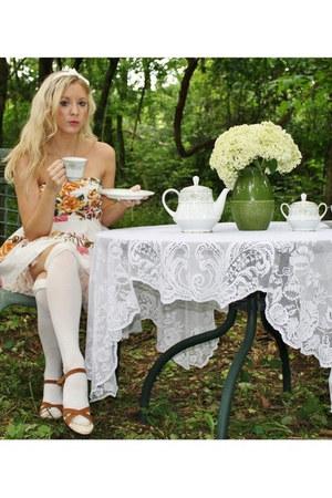 tea rose floral dress