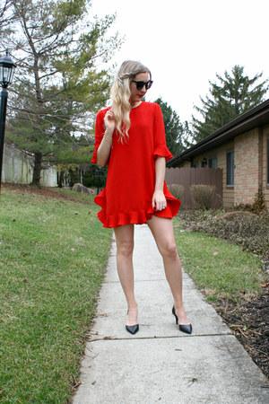 red flutter StyleWe dress