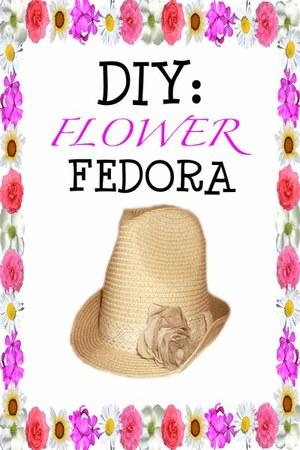 flower fedora hat