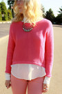 Pink-sweater