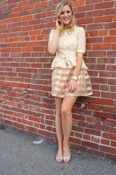 cupcake skirt - lace peplum top