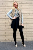 black black Deb Shops tights - black black skater Deb Shops skirt