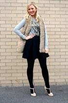 black black Deb Shops tights - black black skater Deb Shops skirt