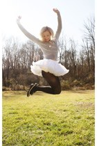 petticoat skirt - bunny sweater