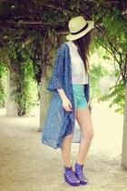 sky blue Bershka shorts