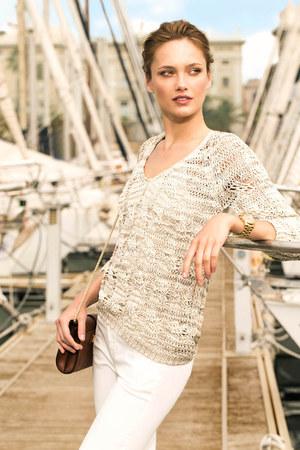 dark brown Massimo Dutti bag - silver Massimo Dutti sweatshirt