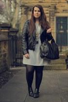 heather gray Primark dress - black Primark jacket