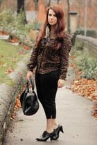 bronze motelrocks shirt - black asos pants