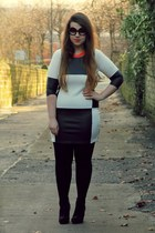 black Missguided dress - black Ebay sunglasses