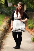 white TFNC dress - black Dorothy Perkins cardigan