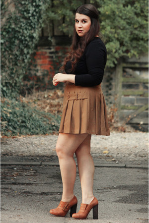 bronze warehouse skirt - dark brown Topshop shoes