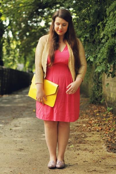 H&M dress - OASAP bag - glitter sarenza loafers