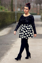 white new look skirt - black motelrocks dress