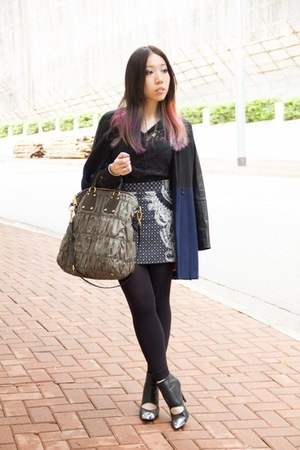 random from HK skirt - lace Zara shirt - Prada bag - Nowhere heels