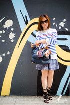 white stripes Saint James top - navy Tommy Hilfiger bag