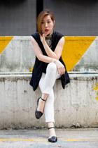 black Zalora vest - black Ipanema sandals - gray sass & bide top