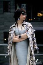 sky blue herve leger dress - black Zara heels