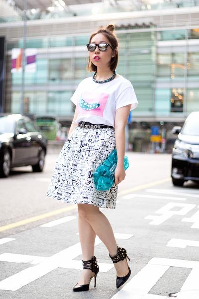 white iBlues x Banana Graffiti t-shirt