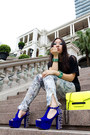 Yellow-neon-werelse-x-mango-touch-bag-blue-foxy-spike-jeffrey-campbell-heels