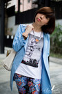 Sky-blue-trench-coat-bread-n-butter-coat-white-coach-bag