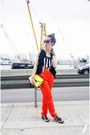 Mango-bag-sass-bide-pants-ruffled-from-japan-vest-topshop-sandals