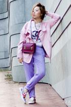 pink Novelty Lane jacket - brick red Sophie Hulme bag
