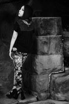 pony tail Jeffrey Campbell heels - floral print asos pants