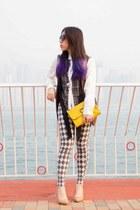 checkers BLINDbyJW shirt - Longchamp x Kate Moss bag