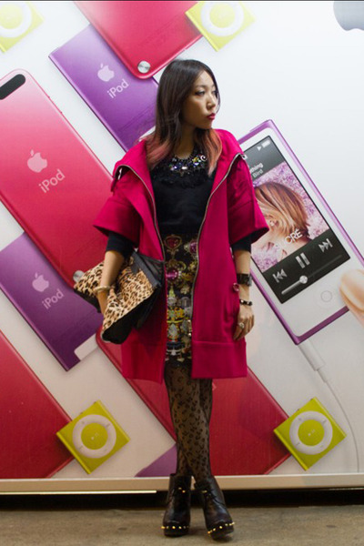 Marc by Marc Jacobs boots - hot pink Another coat - ruffled sleeves Another top