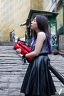 Black-nowhere-skirt-dark-gray-flux-shirt-red-miu-miu-bag