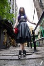 Dark-gray-flux-shirt-red-miu-miu-bag-black-nowhere-skirt