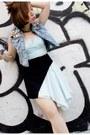 Navy-ray-ban-sunglasses-black-methodology-skirt