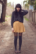 American Apparel sweater - Anthropologie tights - Target socks