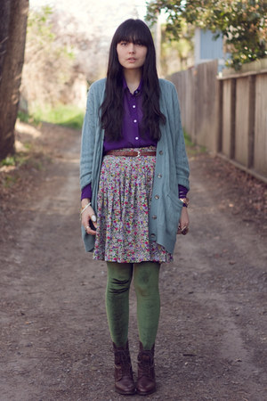 vintage skirt - madewell boots - American Apparel leggings