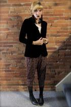 black vintage jacket - vintage pants - black vintage boots - black vintage stock