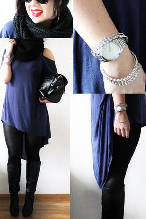black Fiorella leggings - black knitted loop lindex scarf
