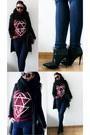 Black-black-coat-h-m-coat-navy-jeans-jeans-black-knitted-loop-scarf-scarf
