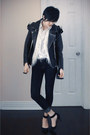 Navy-forever-21-jeans-black-h-m-jacket-black-zara-pumps