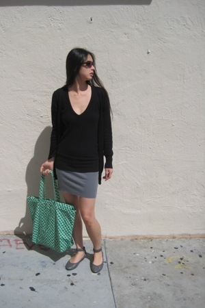 J Crew sweater - Target skirt - Target purse - miz mooz shoes